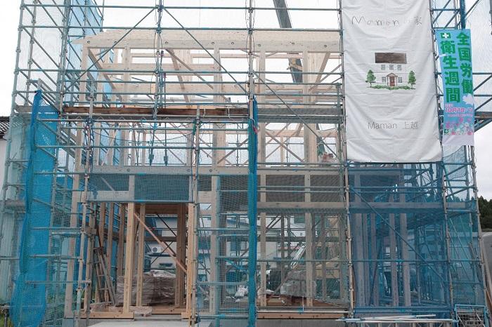 マン上越|新築│上棟|上棟式|建前|建て方|建築中|ママン|Mamanの家