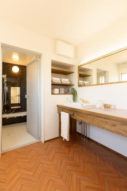 |ママン上越|ナチュラル|mamanの家|可愛いおうち|上越市|糸魚川市|妙高市|デザイン住宅|ビンテージ|かわいいお家|エイジング|デザインコンクリート|おしゃれな家|塗り壁|床|洗面化粧台