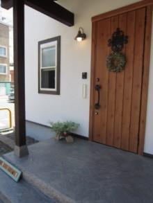 玄関のコンクリート