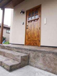 玄関のデザインコンクリート