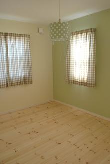 グリーンで統一したお部屋